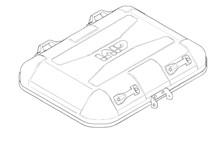 GIVI DLM46 / DLM30 Couvercle Aluminium - Z7710R
