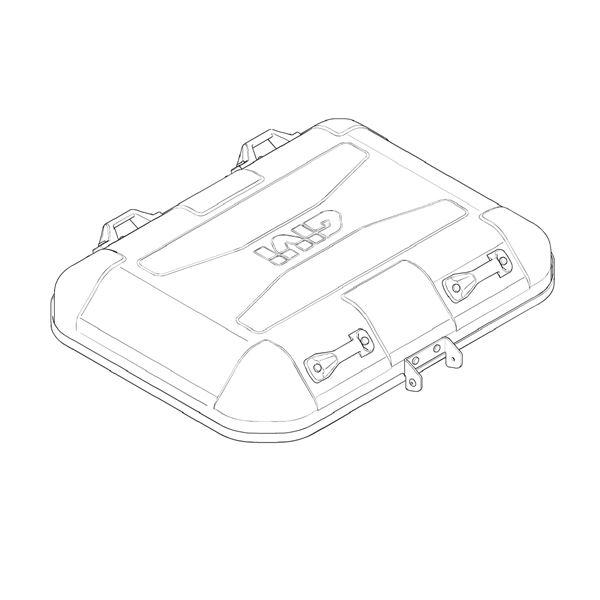 GIVI DLM46 / DLM30 Bovenschaal Aluminium - Z7710R