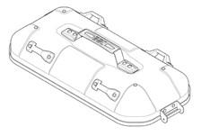 GIVI DLM36 Couvercle Gauche - Aluminium - ZDLM36ALCM