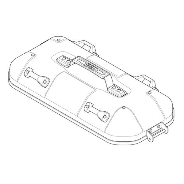 GIVI DLM36 Couvercle Droite - Aluminium - ZDLM36ARCM