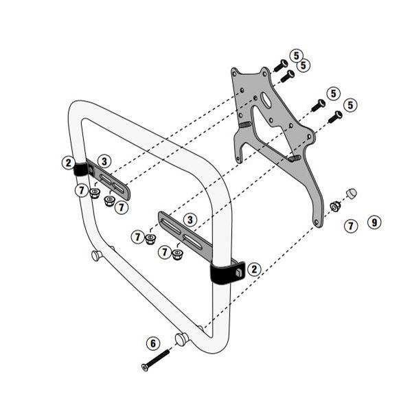 GIVI Specifieke montagekit voor toolbox S250 TL5108CAMKIT