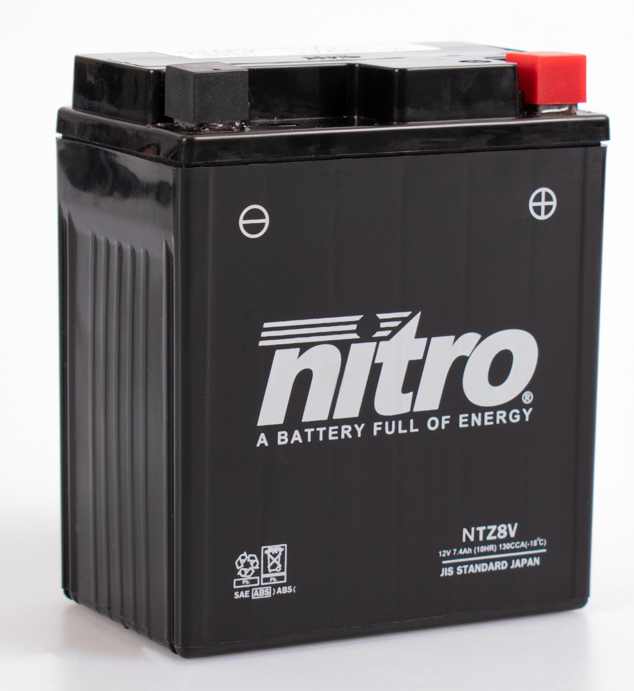 nitro batterie ferm e sans entretien ytz8v rad eu. Black Bedroom Furniture Sets. Home Design Ideas