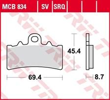 TRW Plaquettes de frein SRQ  MCB834SRQ