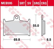 TRW Plaquettes de frein SRT MCB595SRT