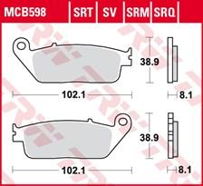TRW Plaquettes de frein SRT MCB598SRT