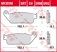 TRW SRT remblokken MCB598SRT