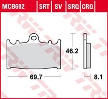 SRT remblokken MCB602SRT