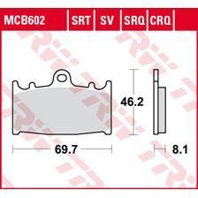 TRW Plaquettes de frein SRT MCB602SRT