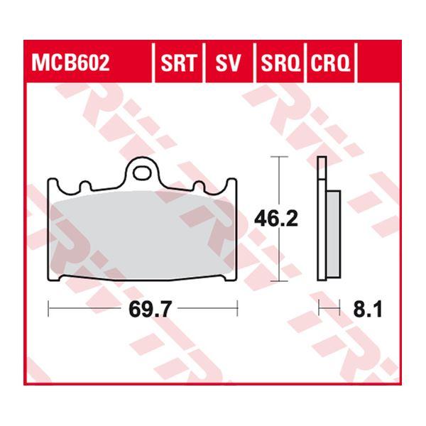 TRW SRT remblokken MCB602SRT