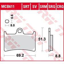 TRW Plaquettes de frein SRT MCB611SRT
