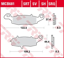 TRW SRT remblokken MCB681SRT