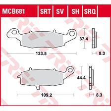TRW Plaquettes de frein SRT MCB681SRT