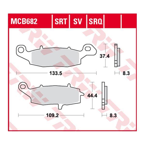 TRW SRT remblokken MCB682SRT