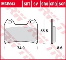 TRW Plaquettes de frein SRT MCB683SRT