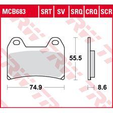 TRW SRT remblokken MCB683SRT