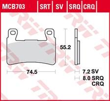TRW Plaquettes de frein SRT MCB703SRT