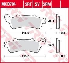 TRW Plaquettes de frein SRT MCB704SRT