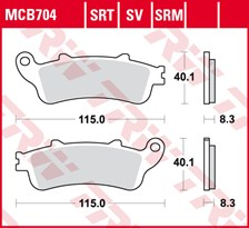 TRW SRT remblokken MCB704SRT