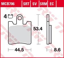 TRW Plaquettes de frein SRT MCB706SRT