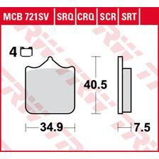TRW Plaquettes de frein SRT MCB721SRT