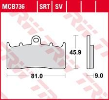 TRW Plaquettes de frein SRT MCB736SRT