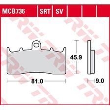 TRW SRT remblokken MCB736SRT