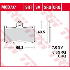 TRW SRT remblokken MCB737SRT