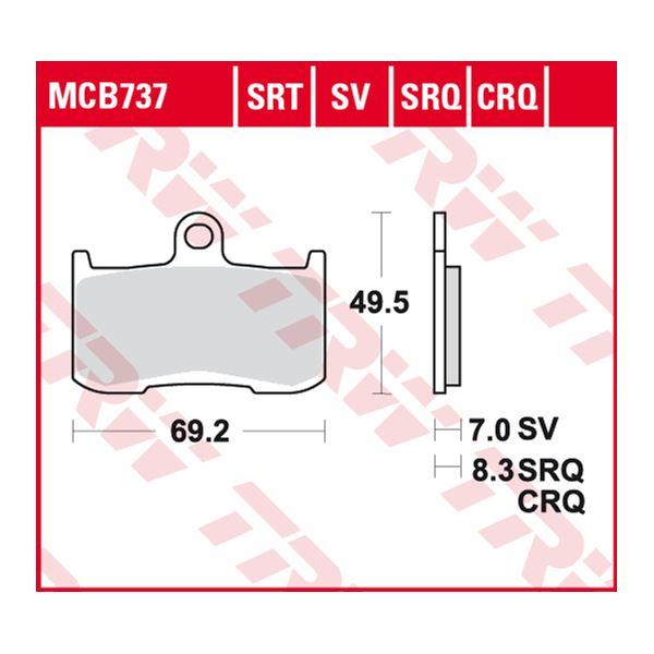 TRW Plaquettes de frein SRT MCB737SRT