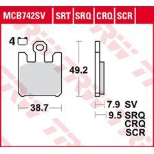 TRW Plaquettes de frein SRT MCB742SRT