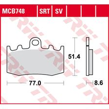 TRW Plaquettes de frein SRT MCB748SRT