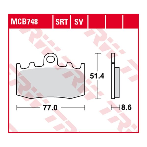 TRW SRT remblokken MCB748SRT