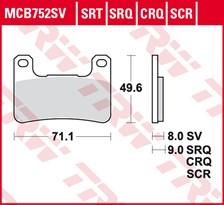 TRW SRT remblokken MCB752SRT