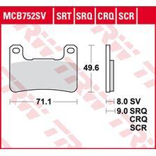 TRW Plaquettes de frein SRT MCB752SRT