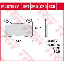 TRW Plaquettes de frein SRT MCB755SRT