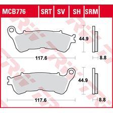 TRW Plaquettes de frein SRT MCB776SRT