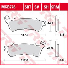 TRW SRT remblokken MCB776SRT