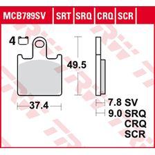 TRW Plaquettes de frein SRT MCB789SRT