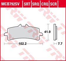 TRW SRT remblokken MCB792SRT