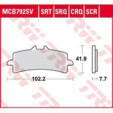 TRW Plaquettes de frein SRT MCB792SRT