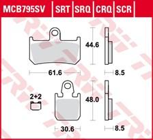 SRT remblokken MCB795SRT