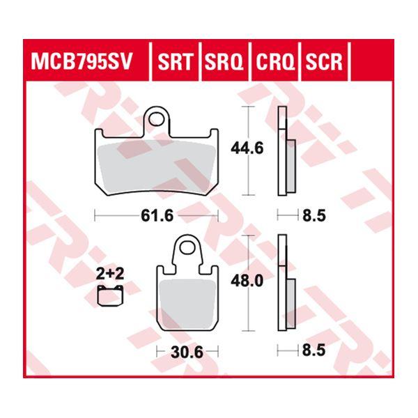 TRW SRT remblokken MCB795SRT