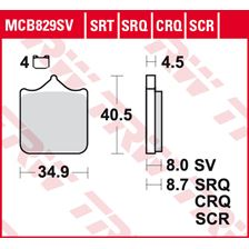 TRW Plaquettes de frein SRT MCB829SRT