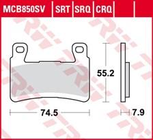 TRW SRT remblokken MCB850SRT