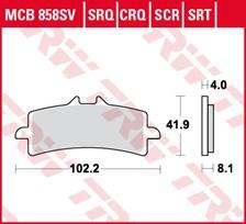 TRW Plaquettes de frein SRT MCB858SRT