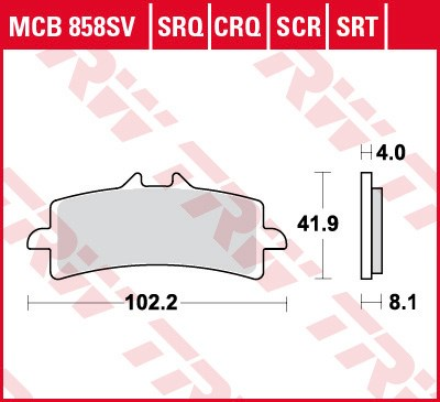 TRW SRT remblokken MCB858SRT