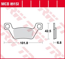 TRW Plaquettes de frein métal fritté SI MCB891SI