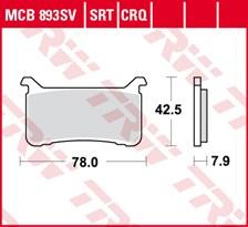 TRW Plaquettes de frein SV/SH MCB893SV