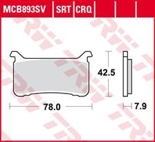 TRW Plaquettes de frein SRT MCB893SRT