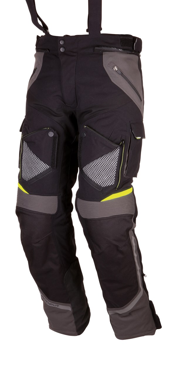MODEKA Panamericana Pants Noir-Jaune