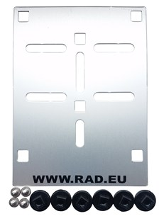 RAD Porte plaque cyclomoteurs aluminium RAD